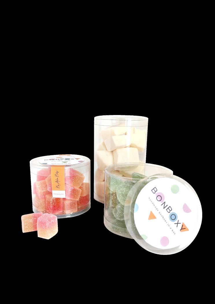 Bonboxy sweets candy snoep zachtesnoep geschenk gift cadeau cadeautip geschenkidee praline lekkeridee kerst nieuwjaar pasen zomaar halloween vakantie beterschap