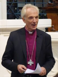 Archbishop Joris Vercammen speaks at St Boniface