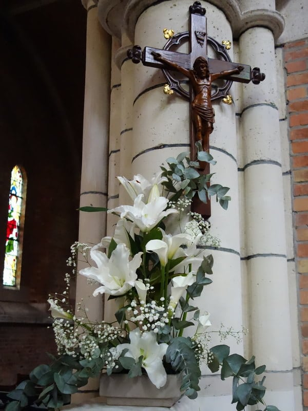 Easter flowers, St Boniface Anglican Church, Antwerp
