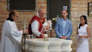 Isabella is baptised