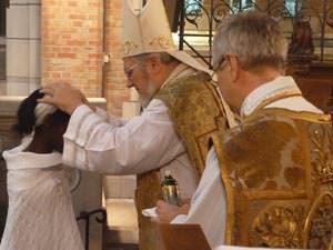 Bishop Geoffrey Rowell at St Boniface