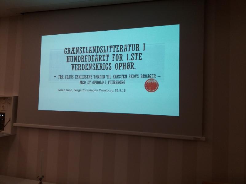 Foredrag i Borgerforeningen 26.9.2018 Grænselandslitteratur