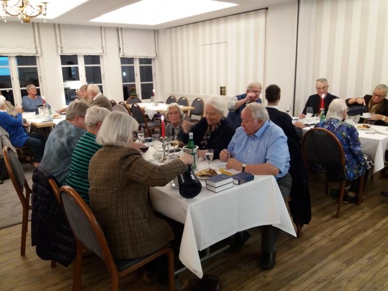 Middag og foredrag i Borgerforeningen 26.9.2018