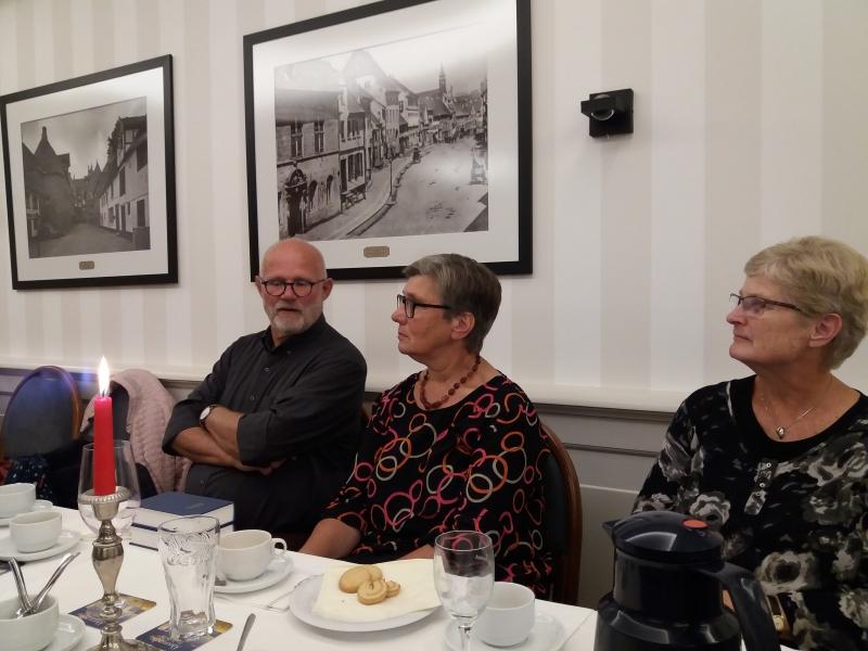 Søren Fanø med  hustru samt søster Kirsten i Borgerforeningen 26.9.18