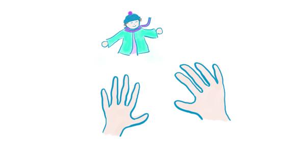 À deux mains