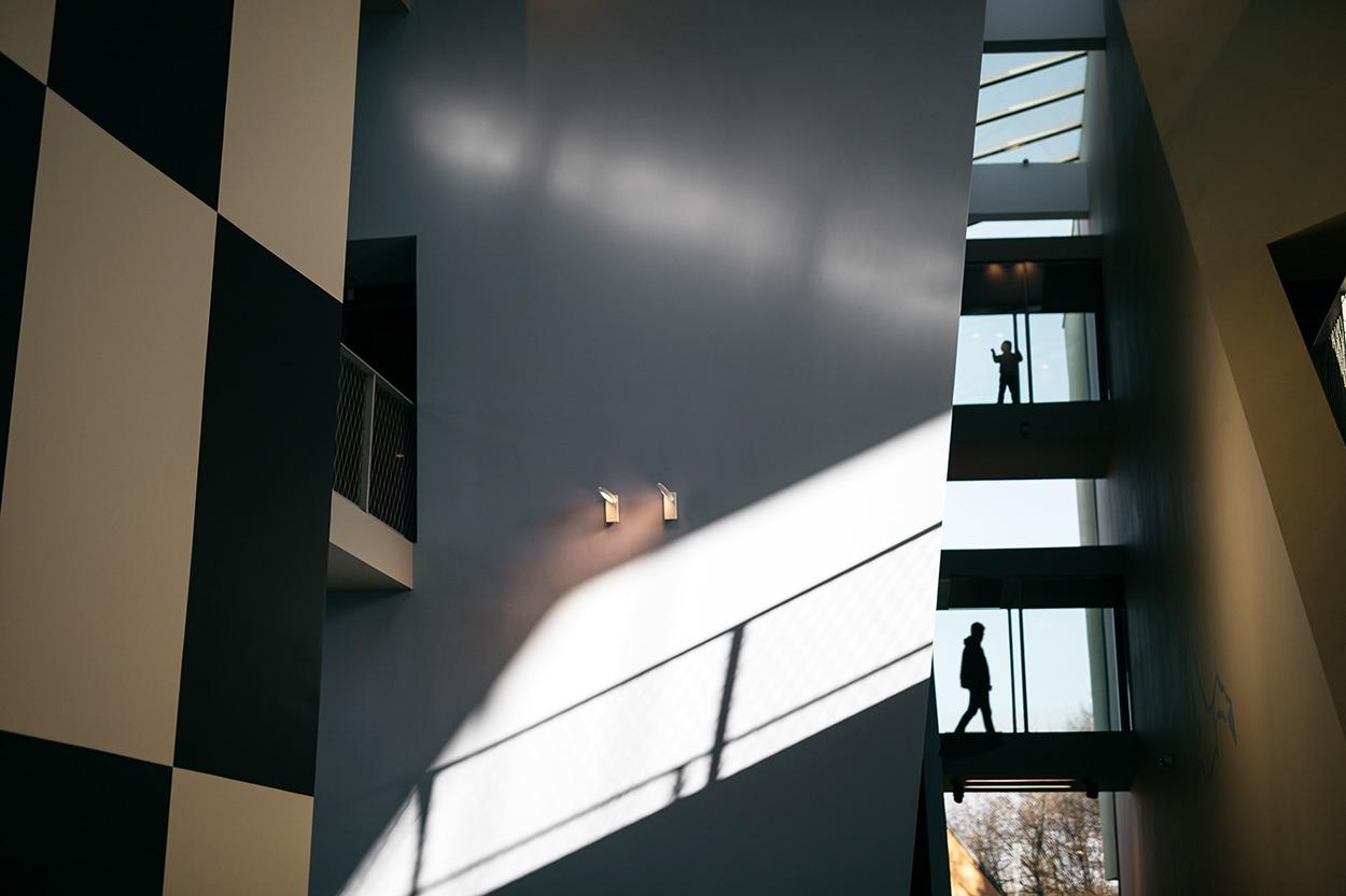 Musée Hergé - grande salle d'entrée