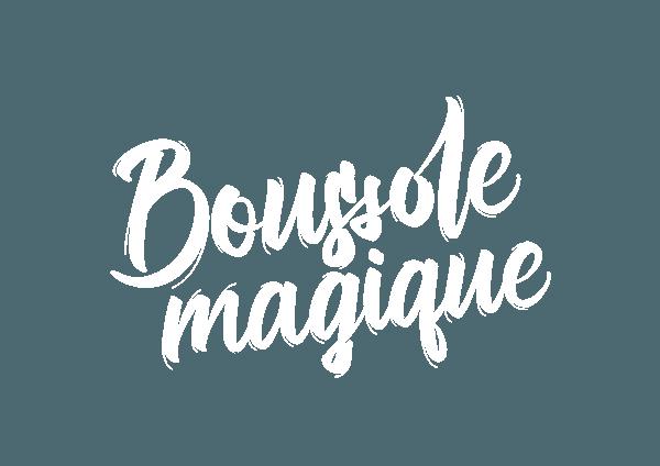 Logo Boussole Magique blanc