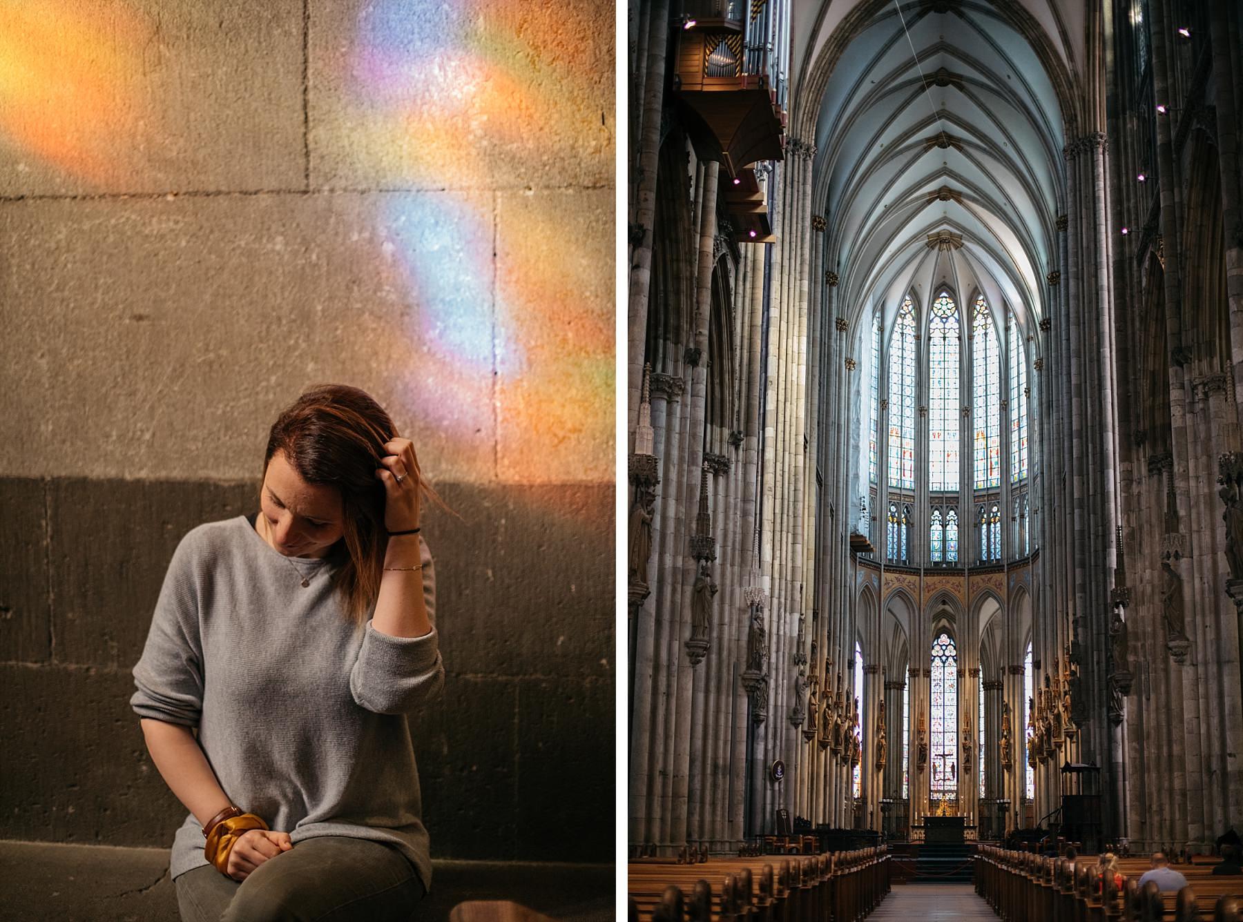 Cologne cathédrale vue intérieure