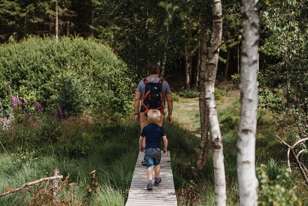 Tros-Marets - fin de la promenade sur un ponton en bois