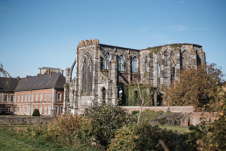 Abbaye d'Aulne - l'église à ciel ouvert