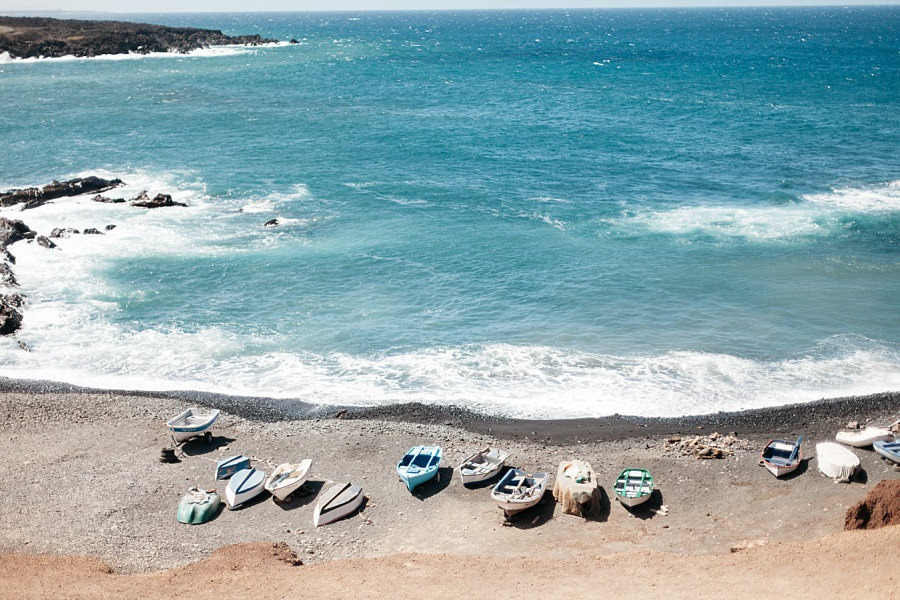 Lanzarote el golfo la laguna verde