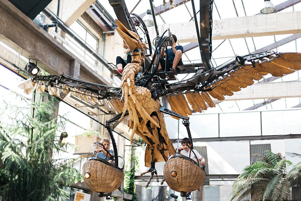 Galerie des machines Nantes héron
