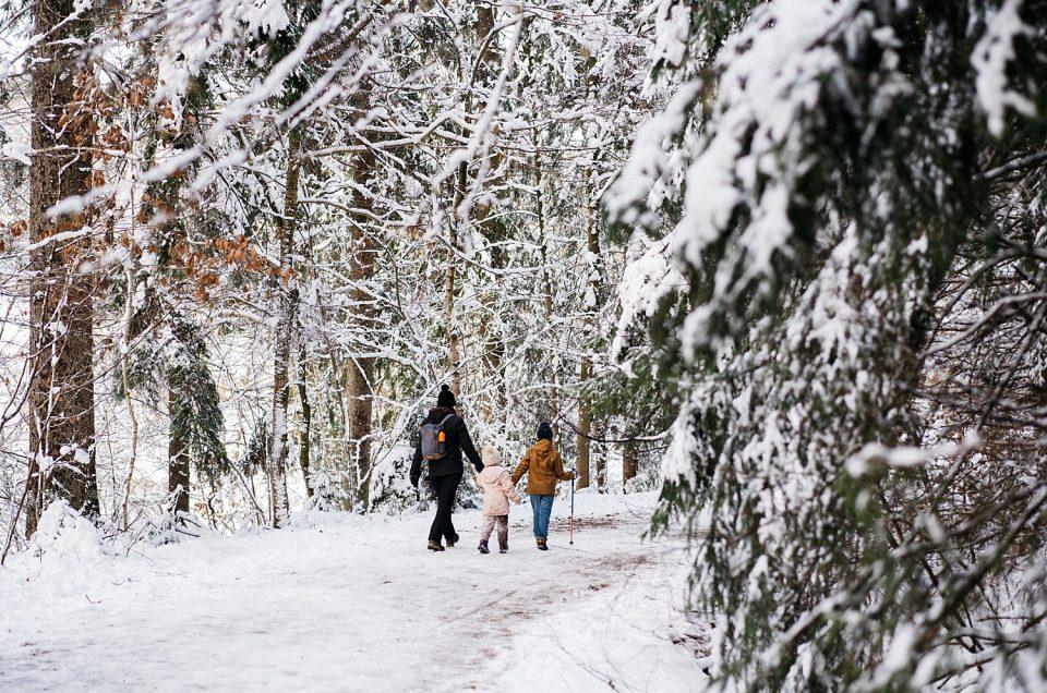 10 km dans la neige du côté d'Eupen