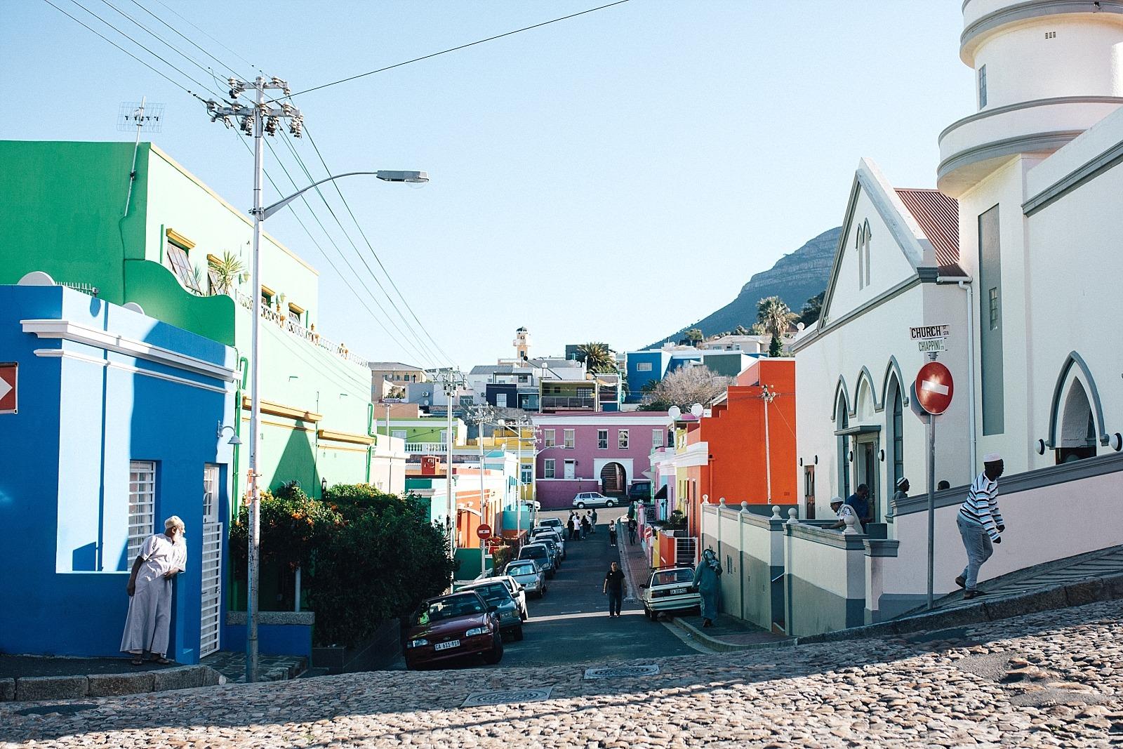 quartier de bo-kaap cape town afrique du sud