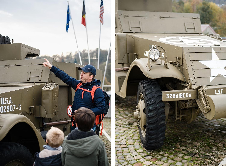 ville de Stavelot Totemus promenade Belgique seconde guerre mondiale half track pont amblève