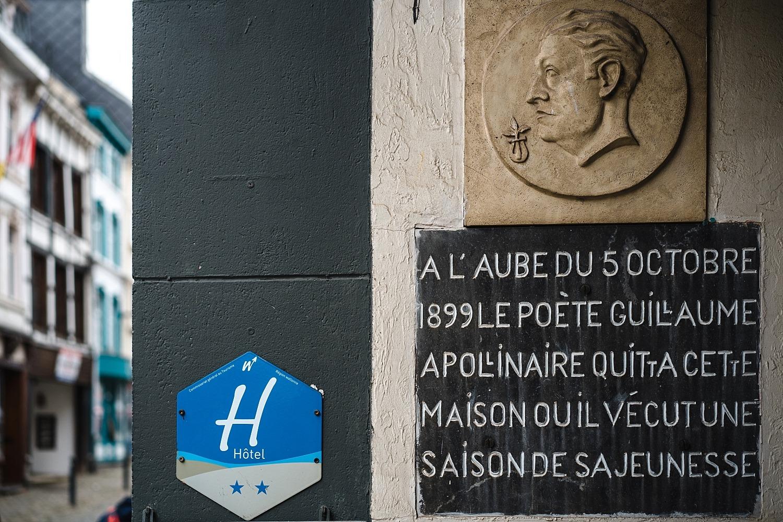 ville de Stavelot Totemus promenade Belgique Guillaume Apollinaire