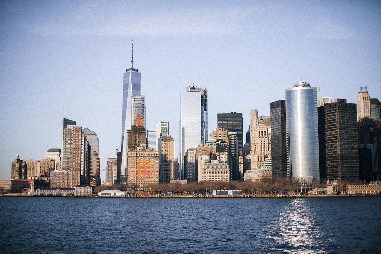 Financial district new york city battery park wall street manhattan ferry boat staten island