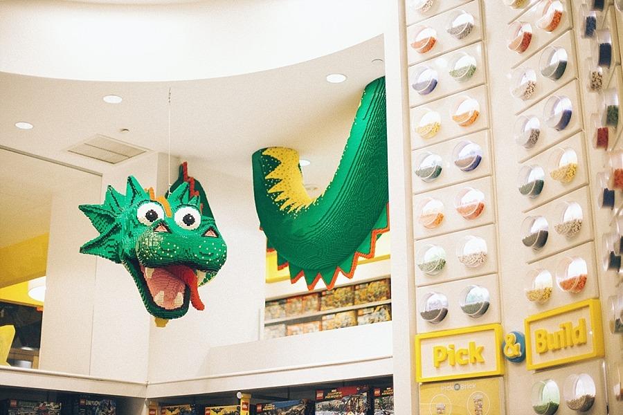 New york city manhattan USA rockefeller center lego store