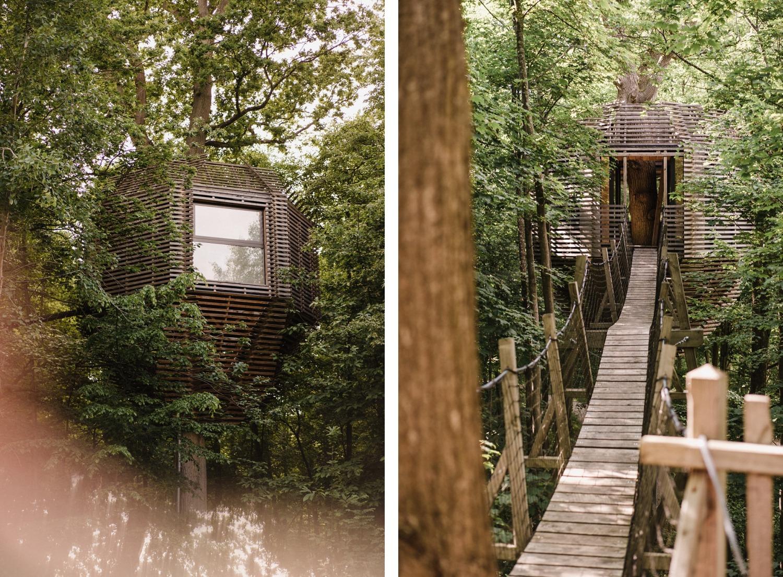 Coucoo cabanes grands chênes Oise Château de Raray golf séjour insolite France spa