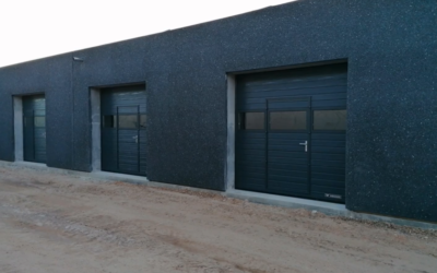 Nye garager på vej.