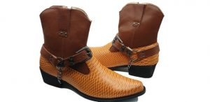 MENS WESTERN COWBOY ANKLE BOOT ZIP up ROSSELLINI TUCO