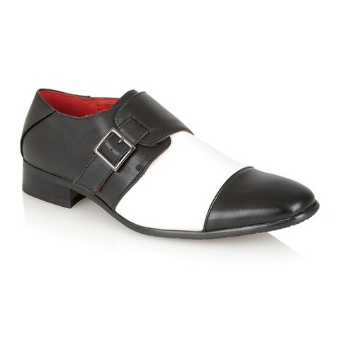 SINGLE MONK STRAP DRESS BLACK-WHITE ROSSELLINI MARTINO