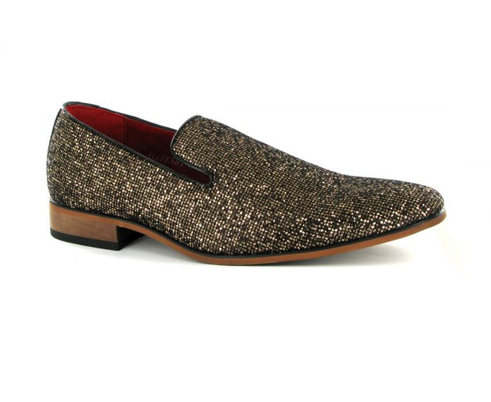MENS GLITTER SLIP ON CASUAL SHOES ROSSELLINI STELLA