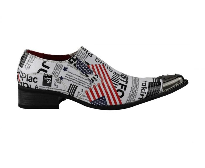 METAL TOE COWBOY SHOES USA Flag Rossellini