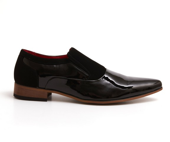 MENS PATENT SHINY SUEDE
