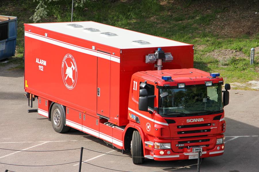 Stor miljøvogn på Scania P320 med opbygning af GKV. Foto: Henning Svensson