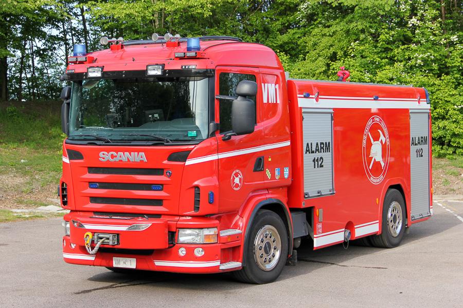 Taastrups ene tankvogn, VM1, på Scania P320. Foto: Henning Svensson