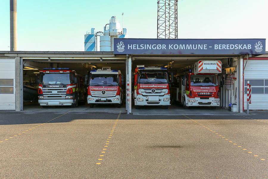 Brandstationen i Helsingør. Foto: Claus Mortensen