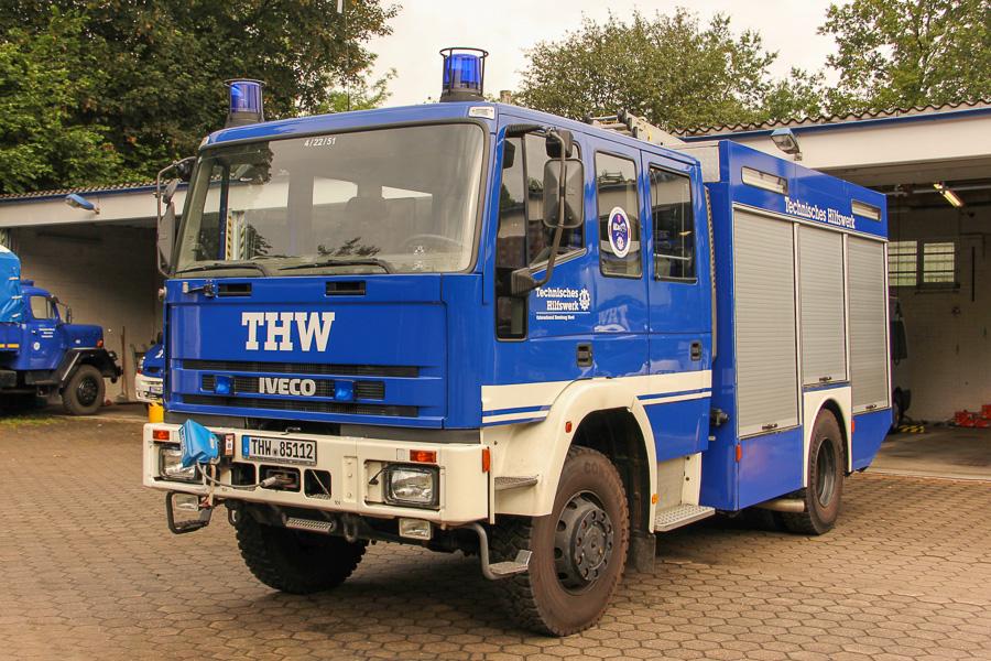 THW materielvogn med rednings- og bjergningsmateriel. Foto: Henning Svensson
