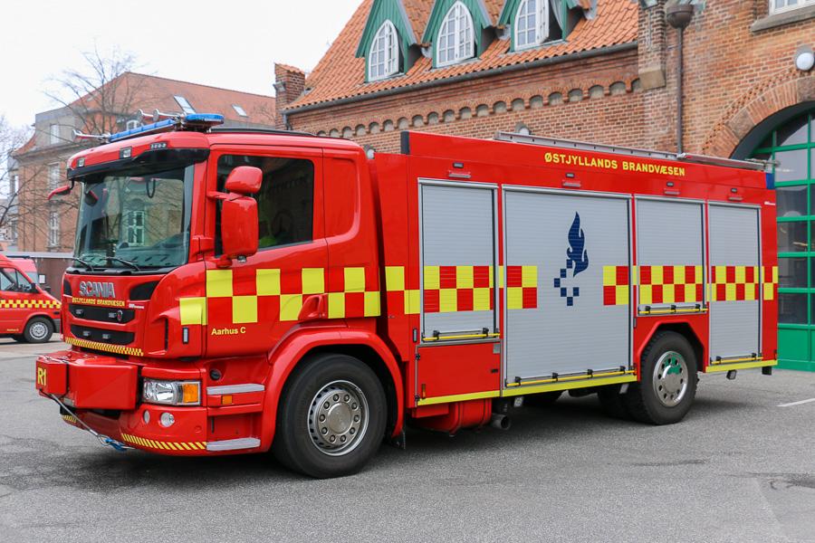 En ny redningsvogn er også tilgået stationen på Munkebakken. Foto: Henning Svensson