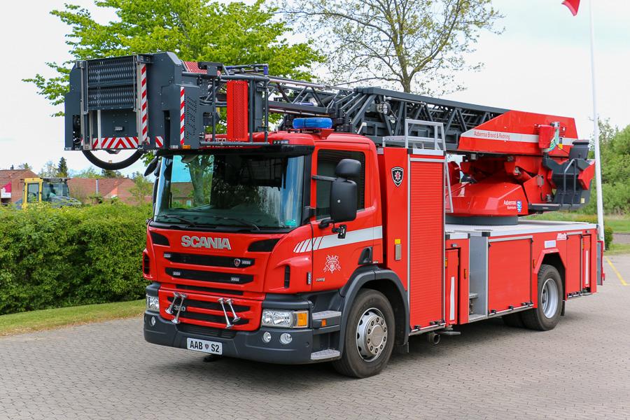 Aabenraa S2, Metz drejestige på Scania chassis. Foto: Henning Svensson