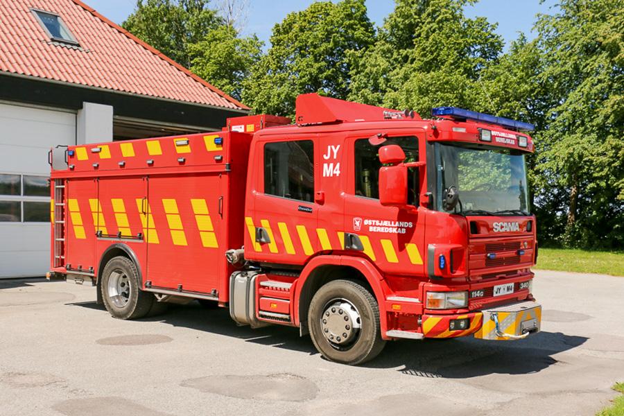 Scania sprøjte i det nye ØSB design. Foto: Henning Svensson