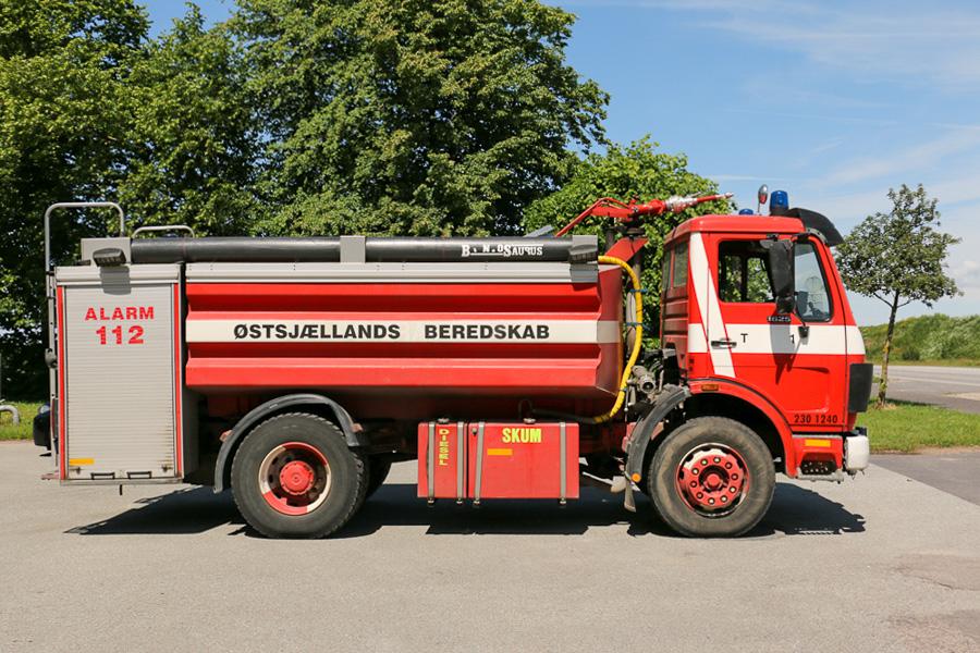 Jyllinges Mercedes-Benz tankvogn ligner sig selv. Foto: Henning Svensson