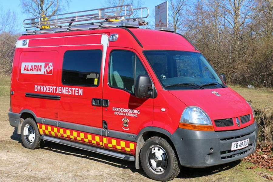 Frederiksborg Brand & Rednings dykkervogn er placeret i Frederikssund. Foto: Henning Svensson