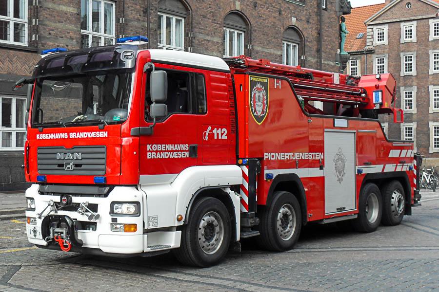 Dette billede af Københavns Brandvæsens I1 er taget med et Samsung M310W. Foto: Tony Frimodt