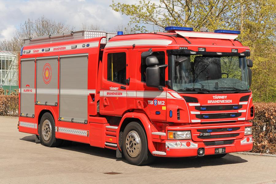 Ny sprøjte i Tårnby på Scania chassis. Køretøjet er leveret af Hauberg Technique. Foto: Tony Frimodt