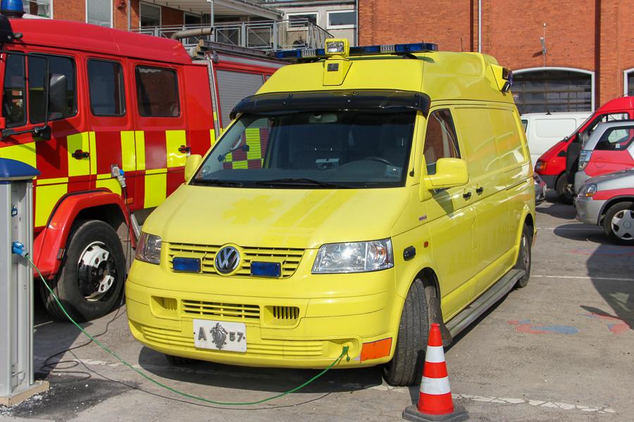 En afrigget ambulance. Hvad mon den skal... Foto: Henning Svensson