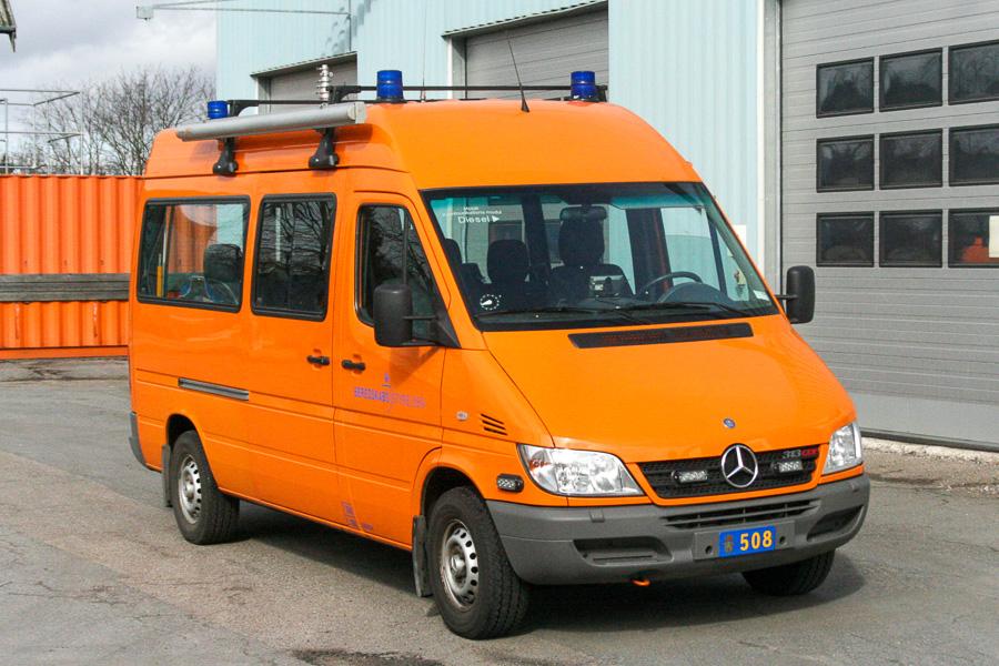 Beredskabsstyrelsen Hedehusene, Mercedes-Benz Sprinter mandskabsvogn. Foto: Henning Svensson