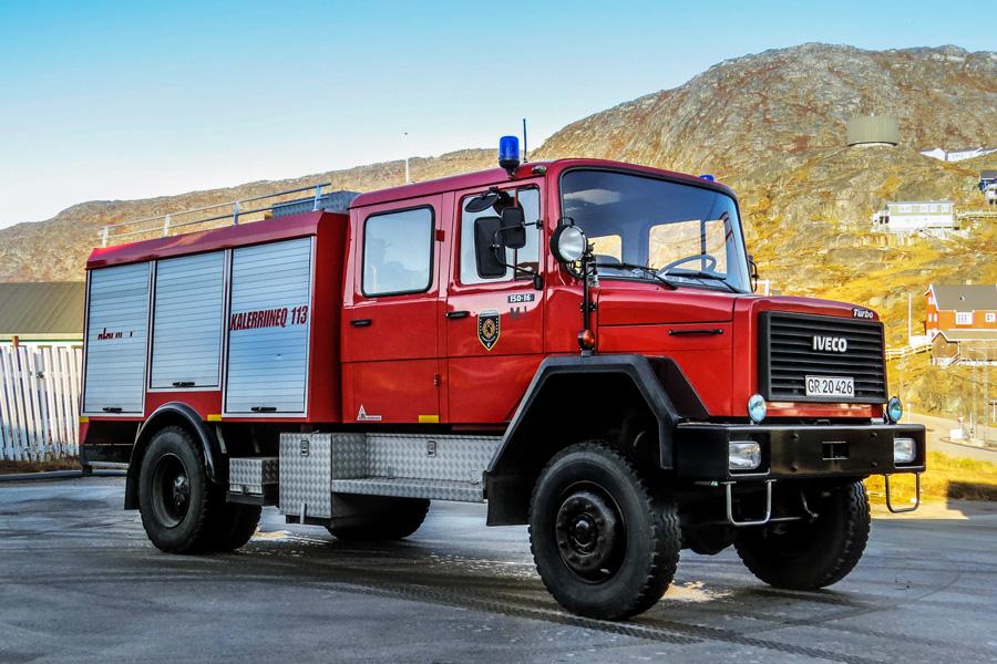 Autosprøjte fra julemandens hjemland - Grønland. Foto: Jesper Lind Arpe