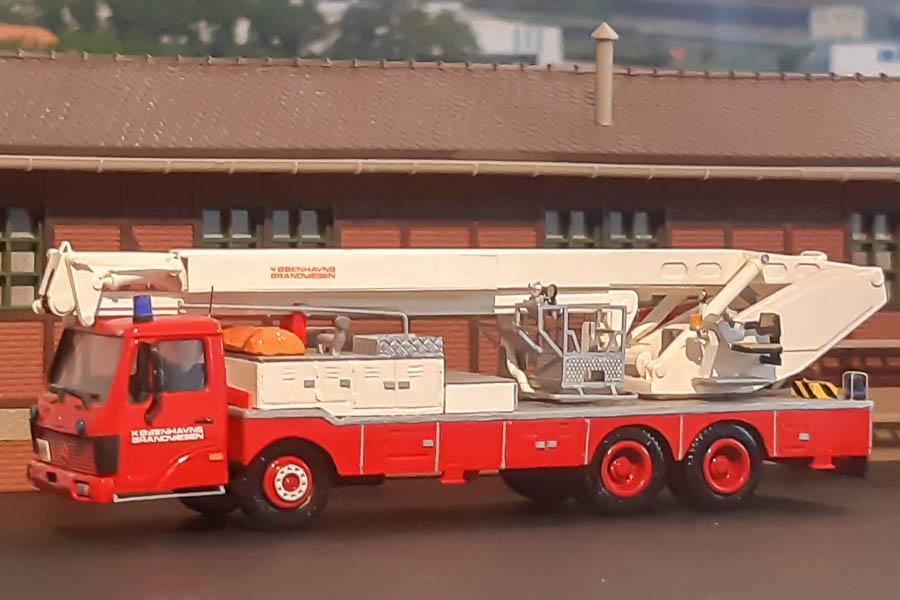 Københavns Brandvæsen snorkel SN2 årgang 1982. Diorama, modelbygning og foto af Steffen Lund