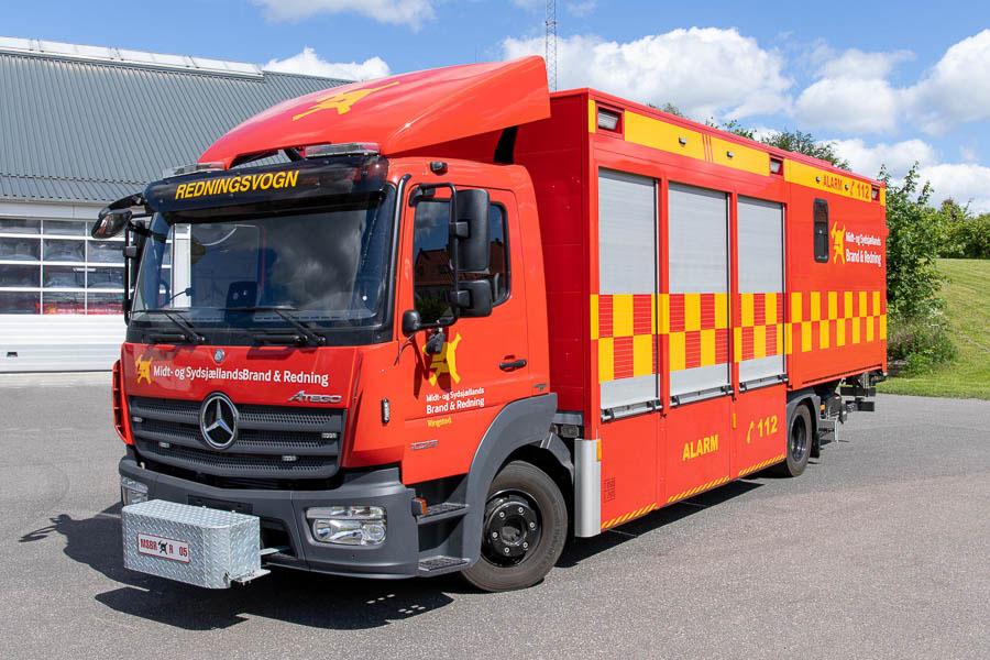 MSBR R-05, Mercedes-Benz Atego redningsvogn årgang 2018. Foto: Tony Frimodt