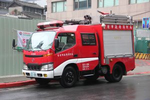Pumpevogn fra Taipei. Opbygget på et Toyotachassis og vel nærmest hvad vi kender som en HSE. Foto: Henning Svensson.