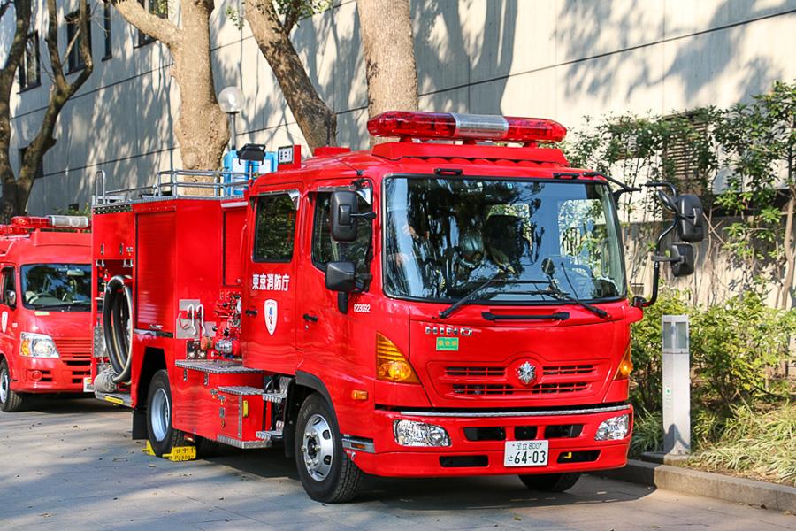 Lille autosprøjte fra Tokyo Fire Department. Foto: Henning Svensson