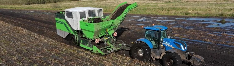 kartoffeloptagning med bæltevogn