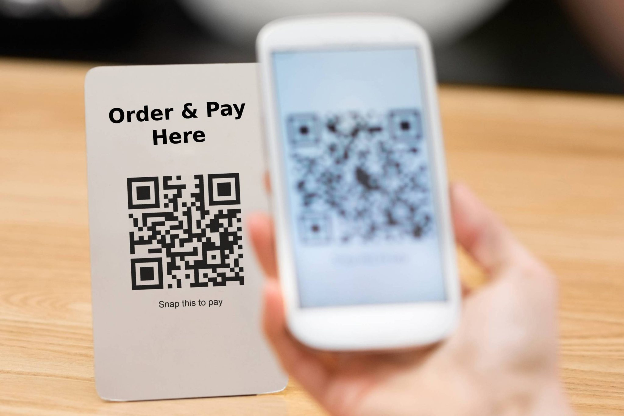 qr code ordering at table