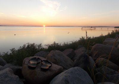 Solnedgang i Nibe
